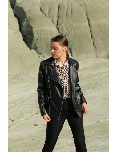 Short PU Leather Jacket
